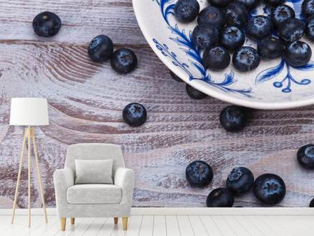 Photo Wallpaper Blueberries