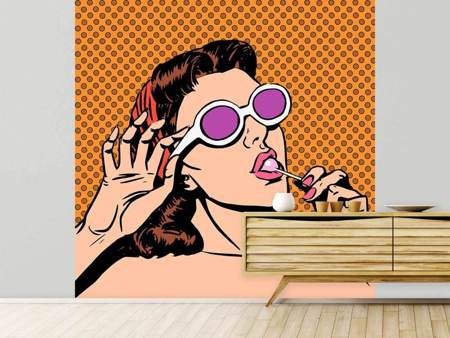 Photo Wallpaper Pop Art Lollipop