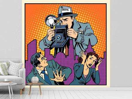 Photo Wallpaper Pop Art Paparazzi
