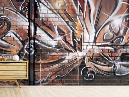 Photo Wallpaper Graffiti Wall
