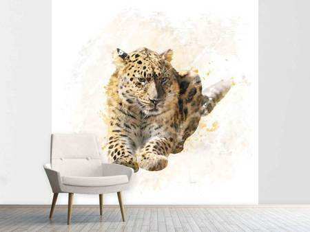 Photo Wallpaper Painting Lynx